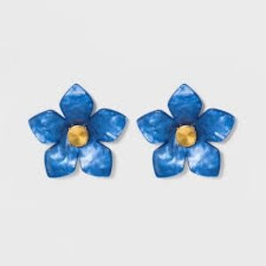 SUGARFIX by BaubleBar Flower Resin Earrings-Blue